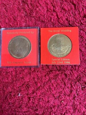 X2 Prince Andress And Sarah Wedding Day Commemorative Coins