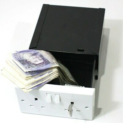 Imitation Double Plug Socket Wall Safe, Stash Security Secret Hidden Box