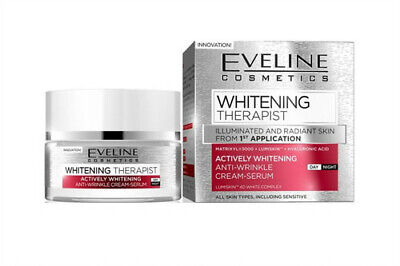 Eveline WHITENING THERAPIST Whitening Anti - Wrinkle Cream - Serum All Skin 50ml
