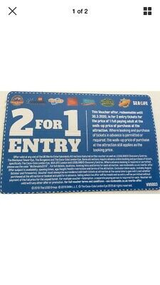 2 For 1 Entry At UK Merlin Entertainments Attractions, Legoland, Blackpool Tower
