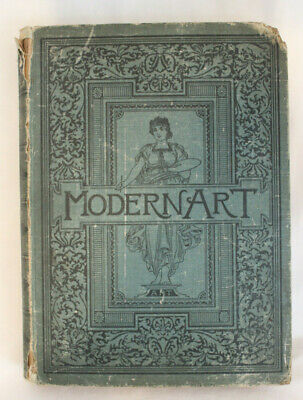 Large Antique c.1885 Book Selections of Modern Art - Engravings Lithos Prints