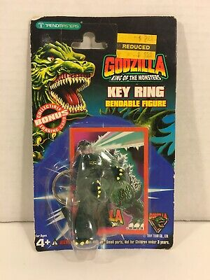 Godzilla King of the Monsters Key Ring Bendable Figure Trendmasters 1994 SEALED