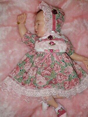 Craftymals   Gorgeous 5 Piece Dress Set  For Reborn Dolls  19  -  22 Inches
