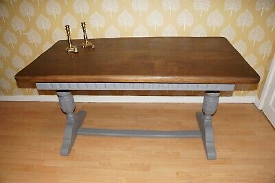 Antique Old Charm Style  Kitchen Dining Table Painted Shabby Chic Vintage P&P