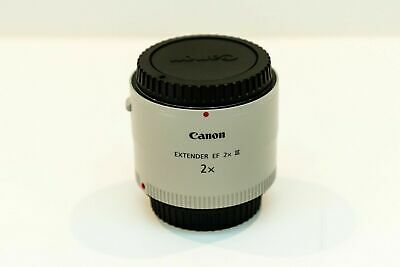 PRISTINE Canon EF Extender 2X III Teleconverter Lens with Pouch - Free Shipping