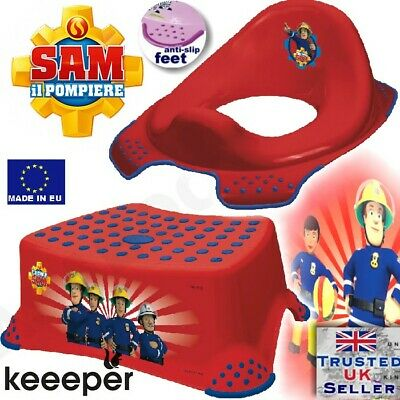 Keeper Toddler Toilet Training Seat & Step Stool FIREMAN SAM anti-slip NEW