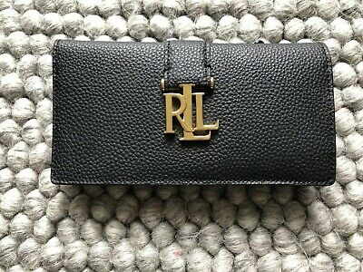 ecbfe74f12 RALPH LAUREN PEWTER Leather Card Holder & Coin Purse + Protective ...