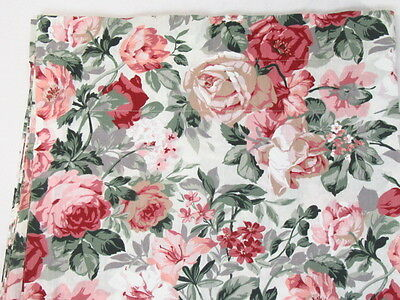 Croscill Rose Arbor Floral Pink Roses 87 x 17.5 Window Valance(s)