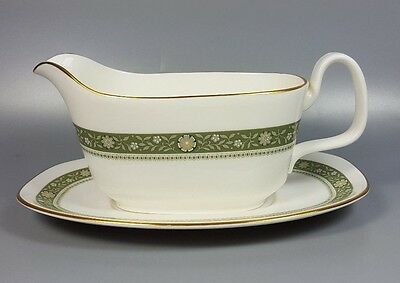 Royal Doulton Rondelay H5004 Gravy / Sauce Boat And Stand (Perfect)