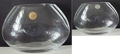"Cristal d'Arques CRYSTAL of France 24% lead crystal 4 3/4"" Tall x 7"" Wide Vase"