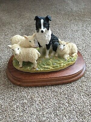 the leonardo collection Border Collie With Lambs