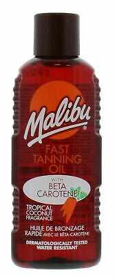 Malibu Fast Tanning Oil With Beta Carotene Handy Size 100Ml Coconut Fragrance