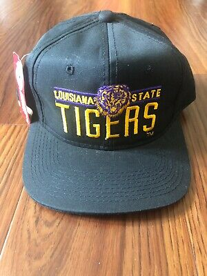 d4ccc1847 LSU Louisiana State Tigers Script Embroidered SnapBack NCAA Hat Cap Vintage