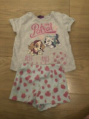 Baby Girls Paw Patrol 9-12 Months Top & Shorts Summer Casual Outfit
