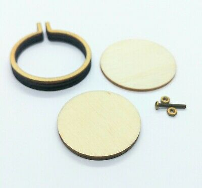 Mini Embroidery Hoop Wooden Frame DIY Pendant Necklace Making Circle Sewing Kit