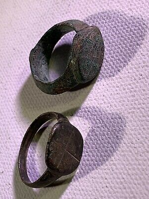 Two Genuine Byzantine Ancient Roman Rings Detector Finds