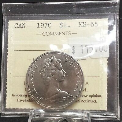 1970 Canada Nickel Dollar ICCS Certified MS65. A134