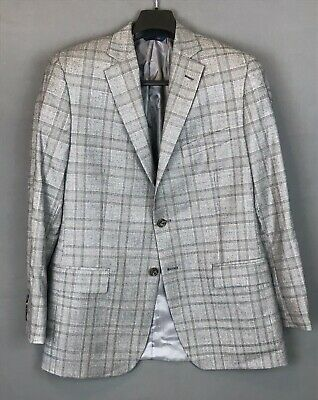 BROOKS BROTHERS Gray Wool  Glen Check Fitzgerald Sport Coat Jacket Blazer 40R