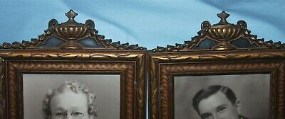 Pair of Antique Gold Gilt Ornate Wood Picture Frames