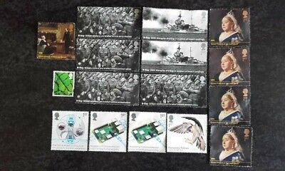 16 Royal Mail 2019 First Class Commemoratives Stamps Off Paper Unfranked D Day