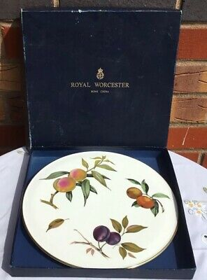 "Royal Worcester Arden 11"" Cake / Gateau Plate Gold Rimmed Excellent Condition"