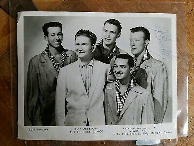 Roy Orbison & Teen Kings Promo Photo Signed Kennelly Wilson Original Sun Records