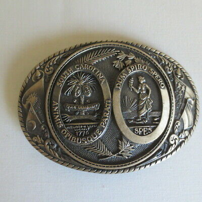 Tony Lama First Edition Solid Brass 3 3/4 Belt Buckle State Serie South Carolina