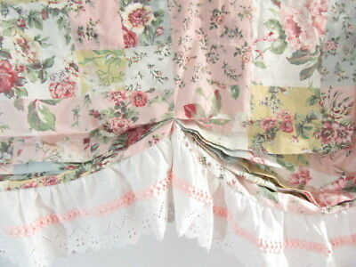 JCPenney Patchwork Eyelet Lace 82 x 17 Tuck-Pleat Window Valance