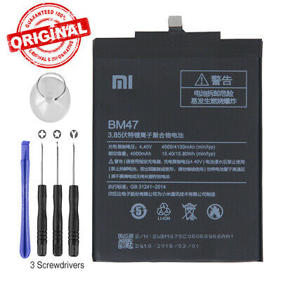 New Genuine Original BM47 Battery 4000mAh For Xiaomi Hongmi Redmi 3 3S 3 Pro 4X