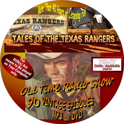 Tales Of The Texas Rangers Old Time Radio Show - 104 Vintage Ekpisodes - Mp3-Dvd