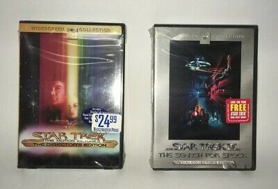 Star Trek Dvd Lot Motion Picture & Search For Spock Special Editions New