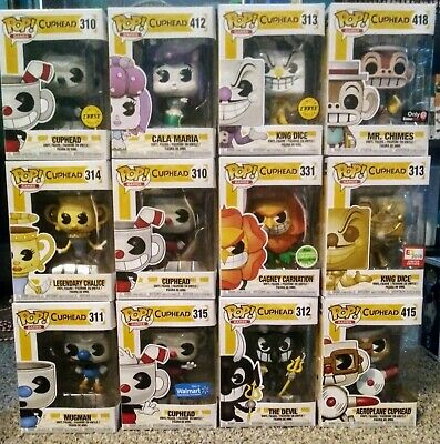 FUNKO POP! Lot of 12 Cuphead Pops - Chases, Exclusives.. - MINT