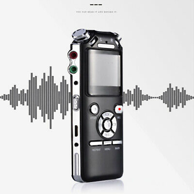 Mini Voice Recorder Professional Rechargeable 8GB Interviews Digital Sound Audio