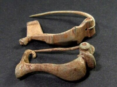 Lot Of Two Roman Period Bronze Fibulae In As Found Condition+++