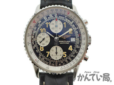 BREITLING A13022 Old Navi Timer Automatic SS Leather Men from Japan [a0616]