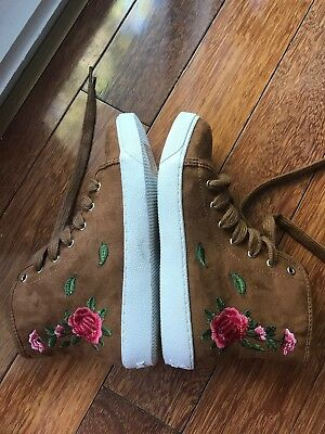 Sam Edelman Girls Shoes - Harriet Youth High Top Sneakers - Size US 3