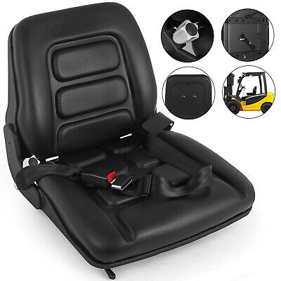 Forklift Suspension Seat with Auto Seat Lock&Seat Belt Tractor PVC Chair