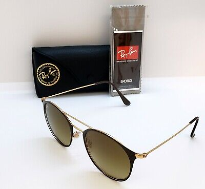 987bceb84116 SUNGLASSES RAY-BAN NEW RB3546 9009/85 52 Gold Top Brown - $74.99 ...