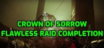 Destiny 2 Crown of sorrow flawless raid completion on PS4/Pc. Read description!