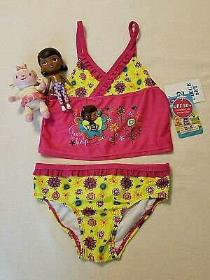 cda909021b522 NWT 5T Toddler Girls 2 Piece Doc McStuffins Swimsuit w/Pre-owned McStuffins  Toys