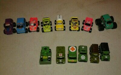 Lot of 14 Vintage Galoob Micro Machines Military and big wheel