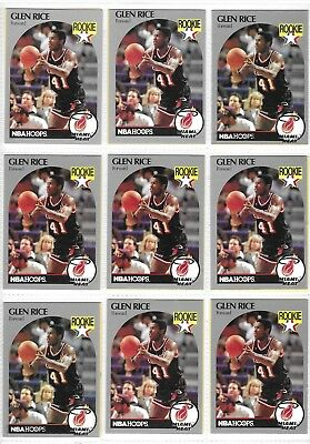 1990 1991 Nba Hoops Glen Rice Rookie Card 010 Picclick