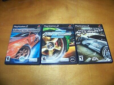 NEED FOR SPEED Underground 1 & 2 & Most Wanted Complete Ps2