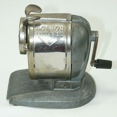 Vintage Boston Champion Hand Crank Pencil Sharpener Works Great