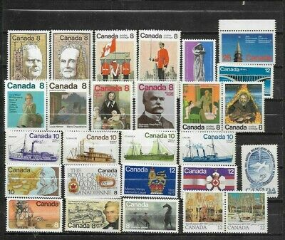 pk44275:Stamps-Canada Lot of 27 Assorted Older Issues-Mint Never Hinged
