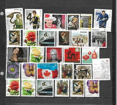 pk44288:Stamps-Canada Lot of 29 Commemorative 'P' Rate Issues - Used