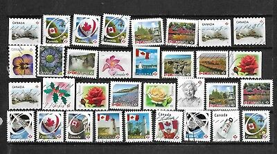 pk44289:Stamps-Canada Lot of 33 Definitive 'P' Rate Issues - Used