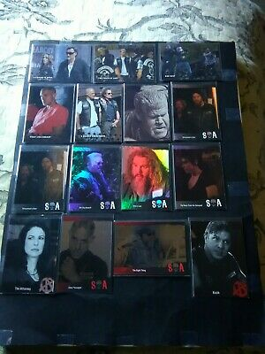 Cryptozoic Sons Of Anarchy Parallel Lot Of 15 Includes 6 /100, 6 /25, 3 /10