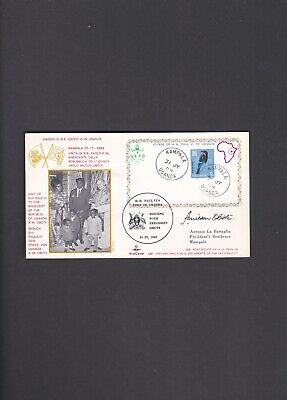 Uganda First Flight Cover Kampala to Vatican City 1969 East African Air