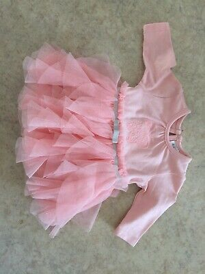 Newborn Pink Tutu One Piece Suit Size 0000 New With Tags
